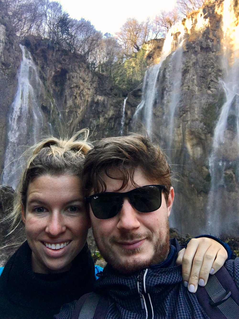 With the boo by a 'slap'. The word for 'waterfall' in Croatian is 'slap'.That's funny. He makes me giggle.