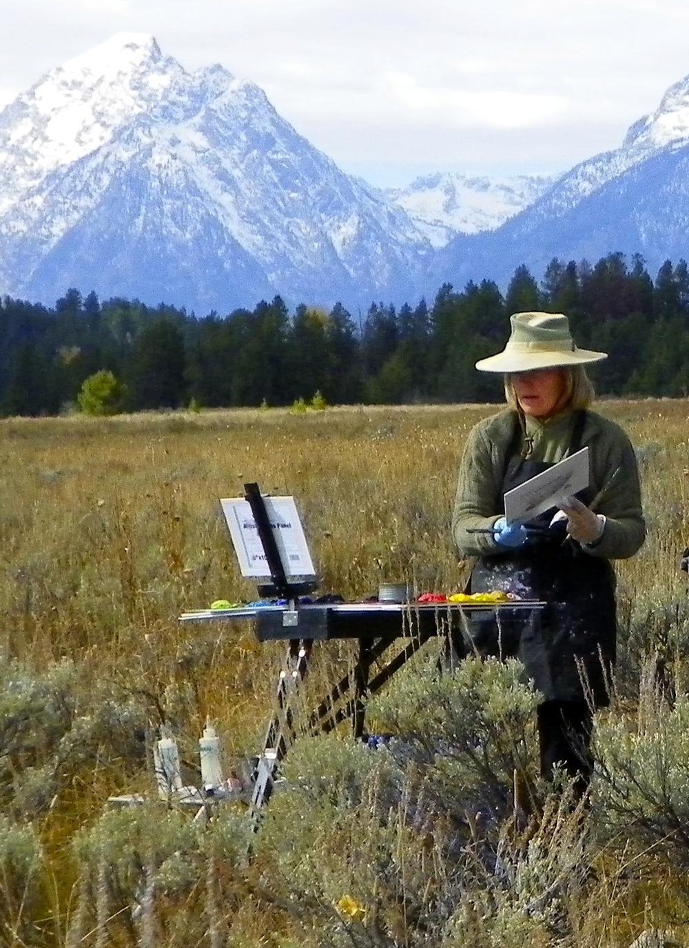 Jackson, Wyoming painting the Tetons spring and fall