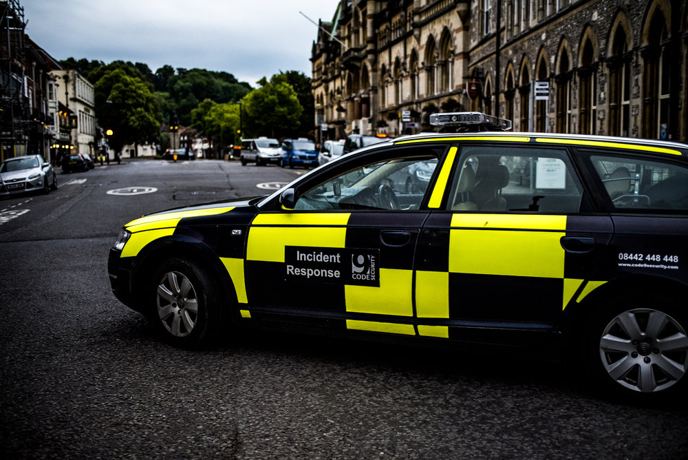 A Code 9 Security incident response unit out on proactive patrol on Winchester's Broadway