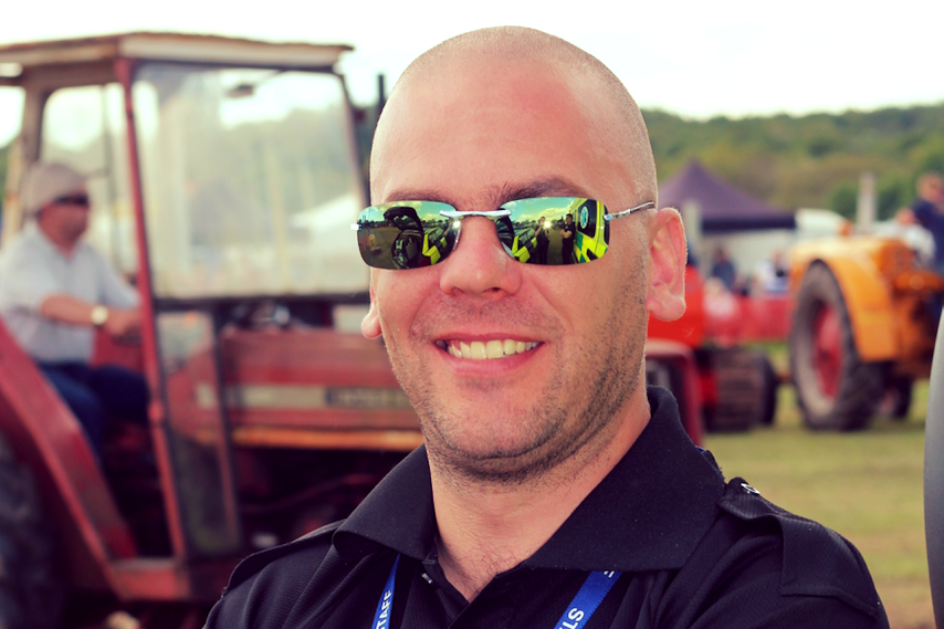 Security Officer, Richard Greensmith, supporting an agricultural event in Eastleigh.