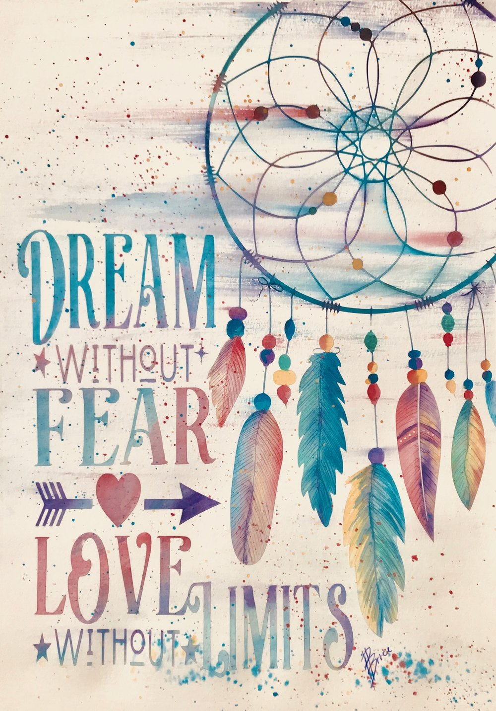 3D Dreamcatcher - with words