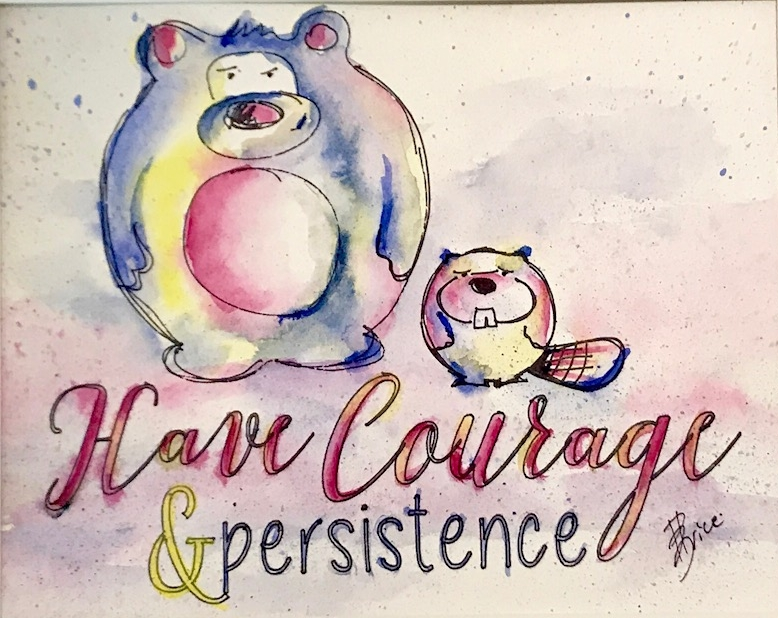 Woodland Creatures Series - Courage & Persistence