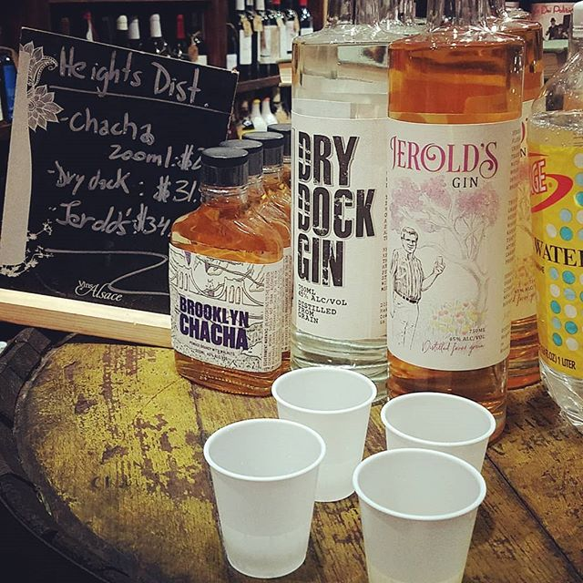 You still have a couple hours to get a complimentary taste of Jerold's Gin, Dry Dock Gin and our  brand new Brooklyn Chacha at @urbanwinesnyc at 45 1st Ave!  Pregame for free! #nyc #localspirits #brooklyn #brooklynmade #manhattan #eastvillage