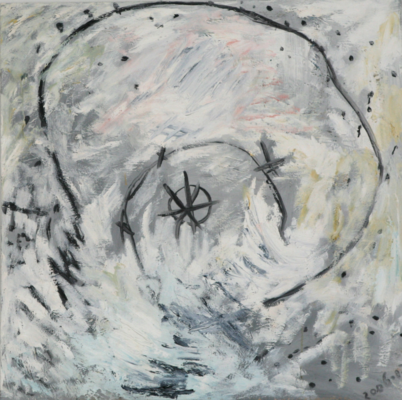 Child's Spiral on White, 2006 - 08, oil in canvas, 76 cm x 76 cm