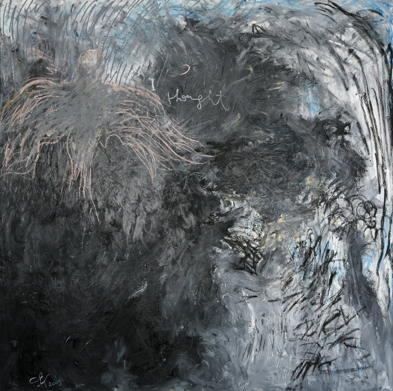 I Thought, 2009, oil on linen, 170 cm x 170 cm