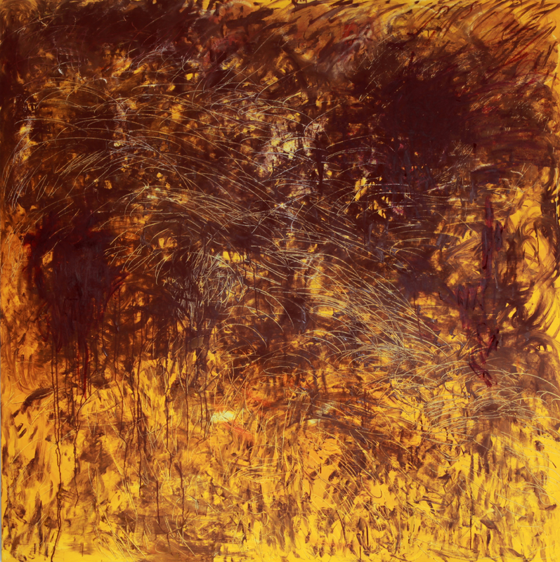 Abstract Field, 2010, oil paint and dry pigment on linen, 170 cm x 170 cm