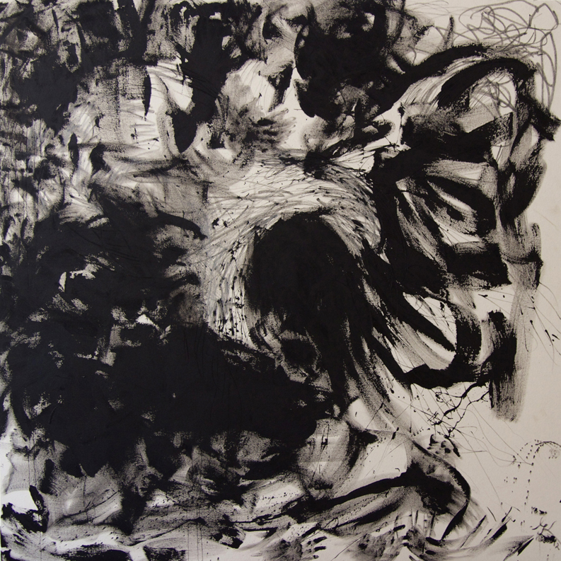 Being in the Painting, 2012, 170 cm x 170 cm, oil and pencil on canvas