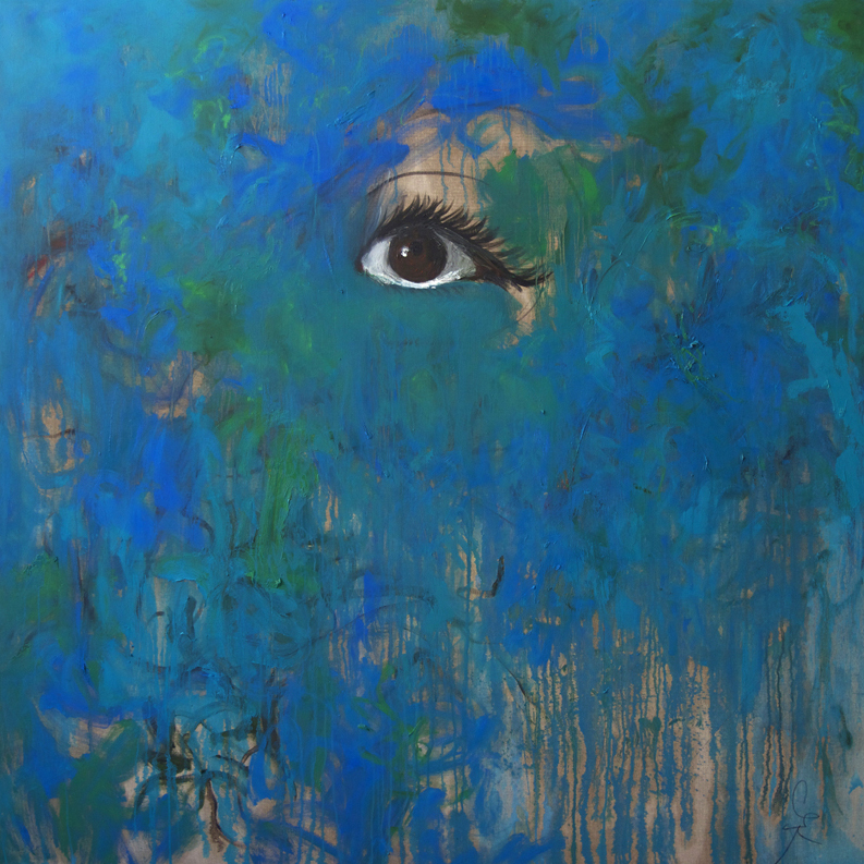 The Eye, 2014, 170 cm x 170 cm, oil on linen