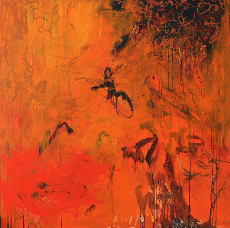 """We rise to play a greater part"", 2011, 170 cm x 170 cm, oil on canvas"