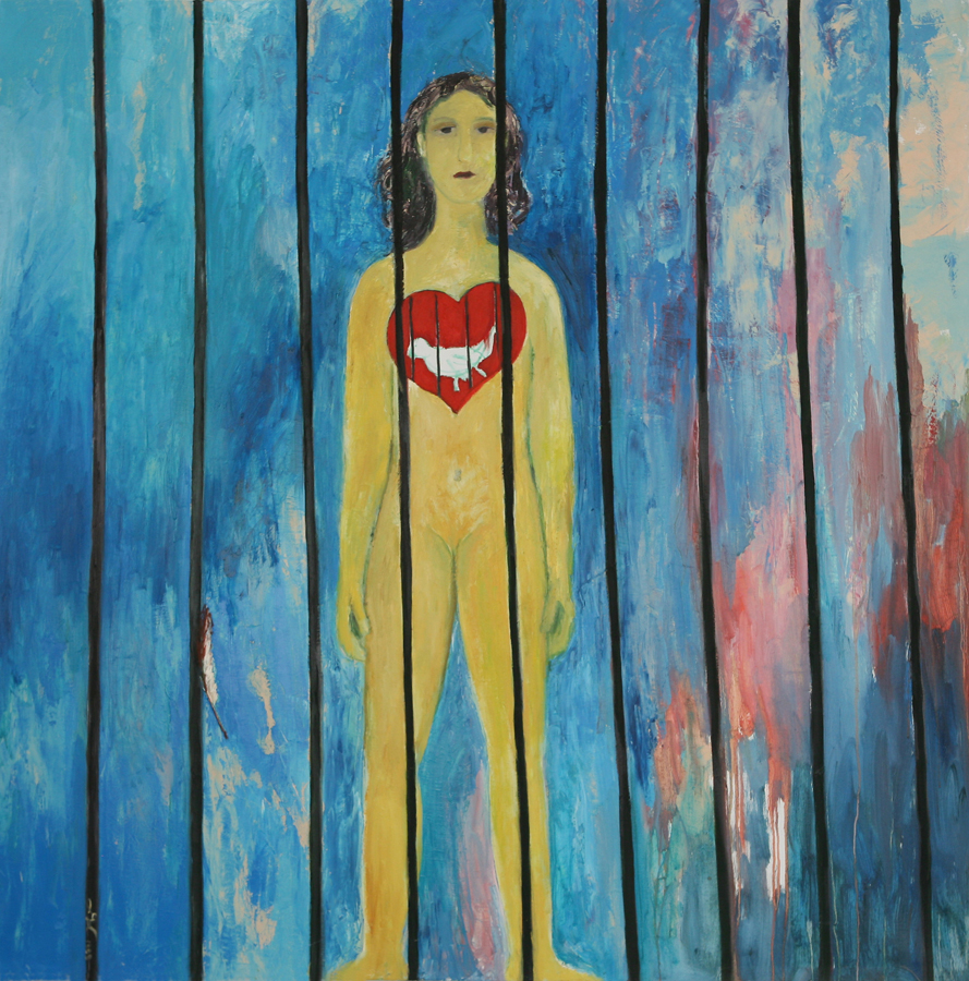 Girl Prison Red Heart - Journey Through Self series, 1995 - 2000