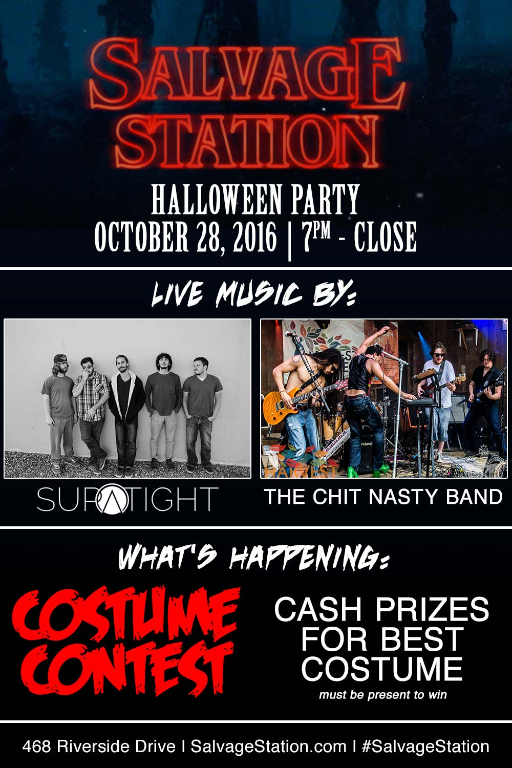 Halloween Party ft. Supatight w/ The Chit Nasty Band — Salvage Station
