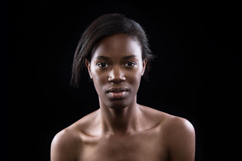 female model posing for portfolio photo