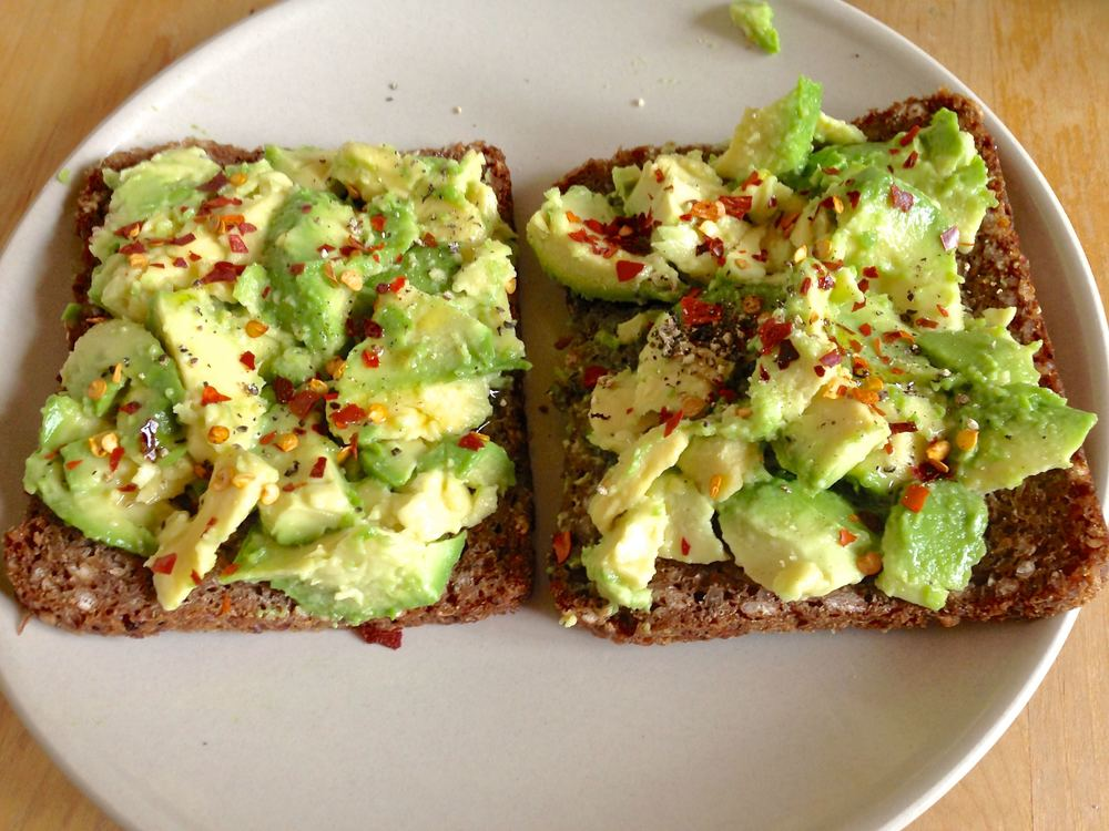 Avocado-on-rye