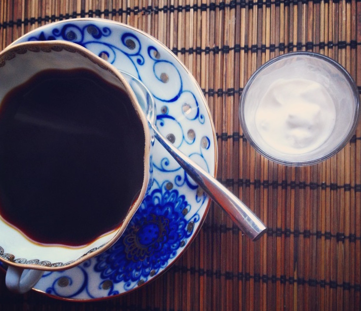 Coffee-with-coconut-cream