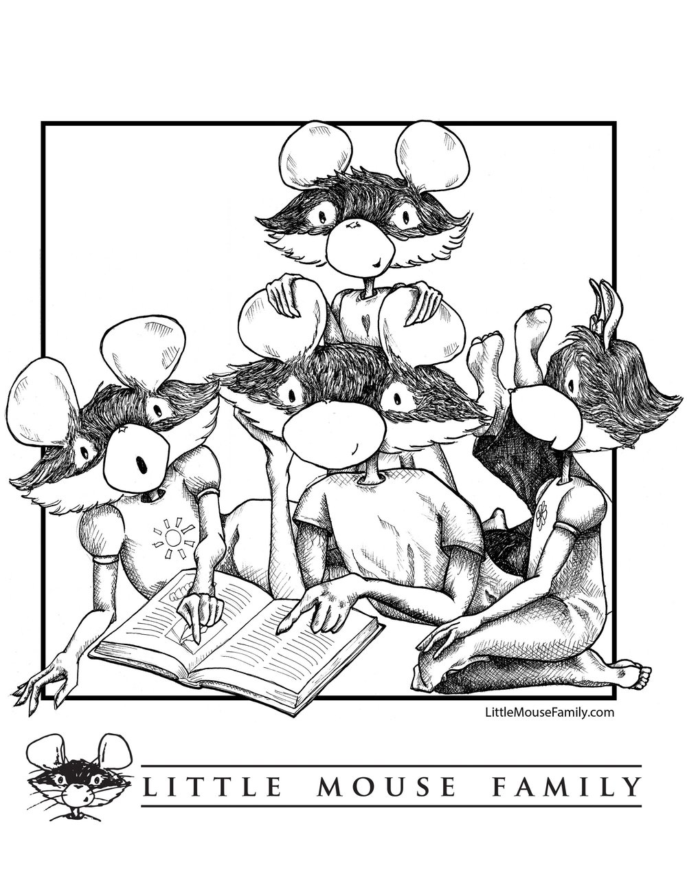 A Coloring Page from www.littlemousefamily.com