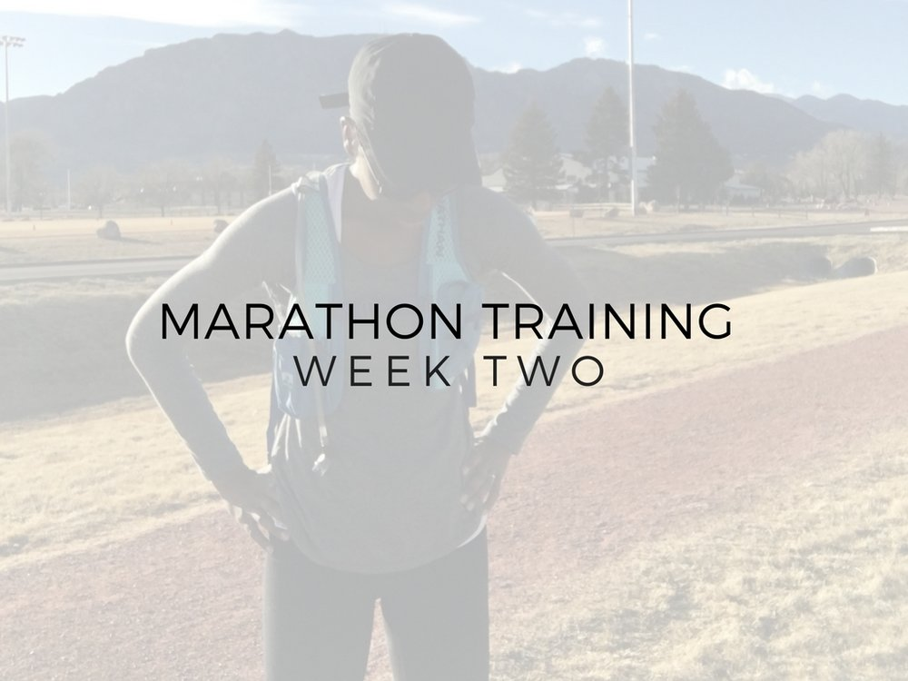 Marathon Training Week Two