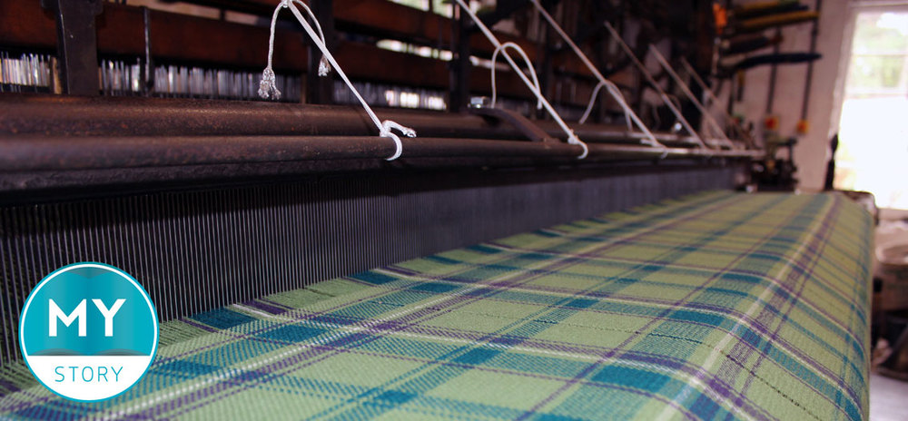 Beechgrove Garden Tartan in the loom at Knockando Woolmill