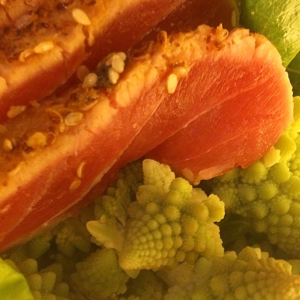ahi tuna and romanesco.JPG