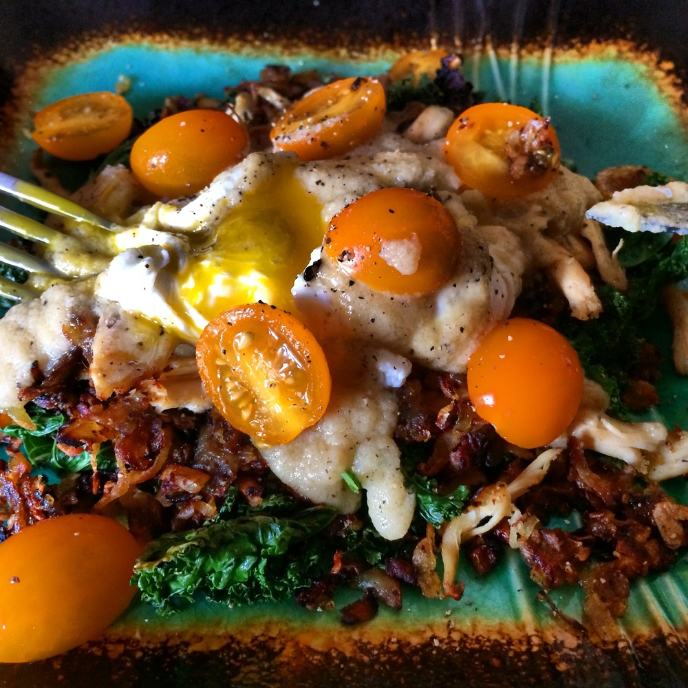 pork hash, kale, poached egg, gravy.JPG
