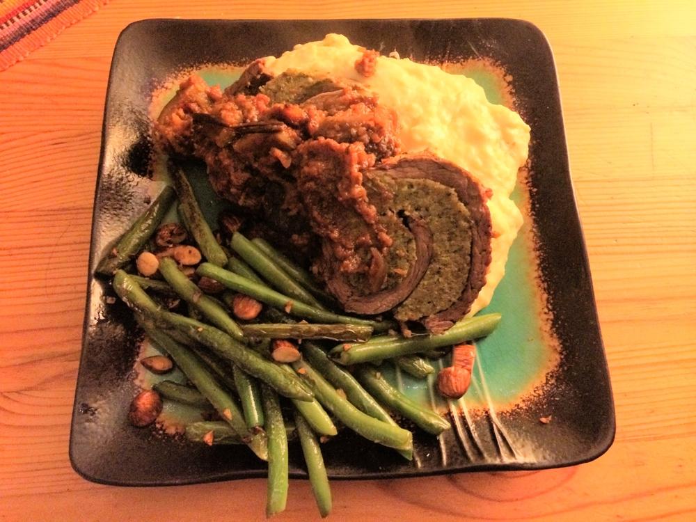 braciola, haricot vert, pureed parsnips.JPG