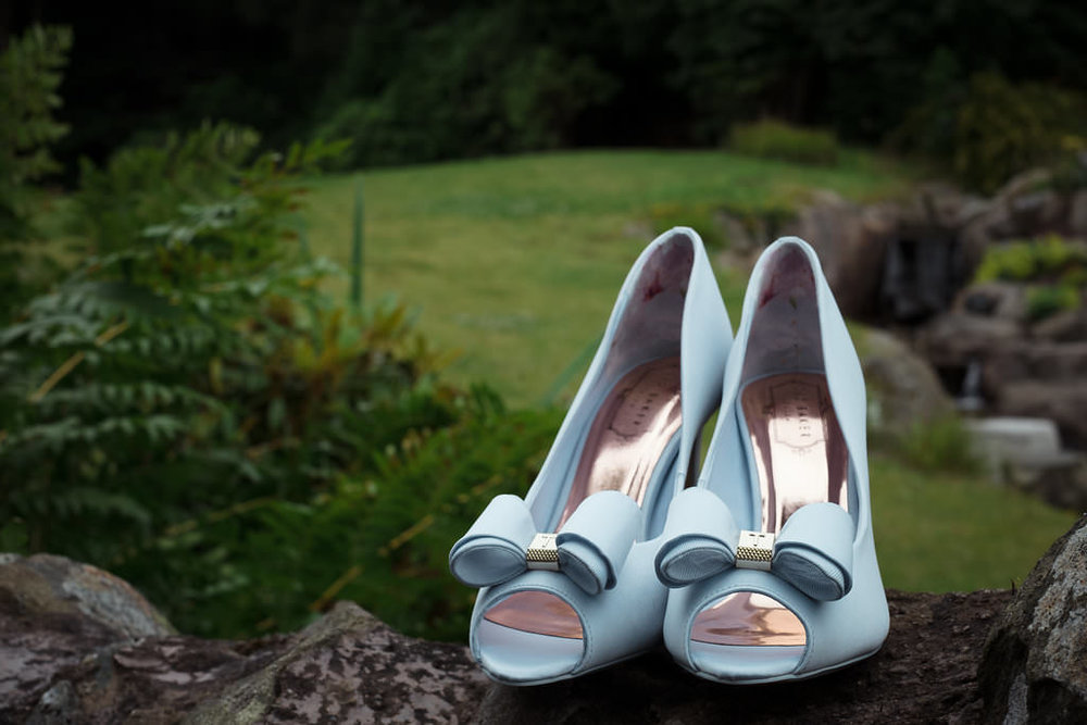 Blue Wedding Shoes at Altskeith House, image by Doran Photography