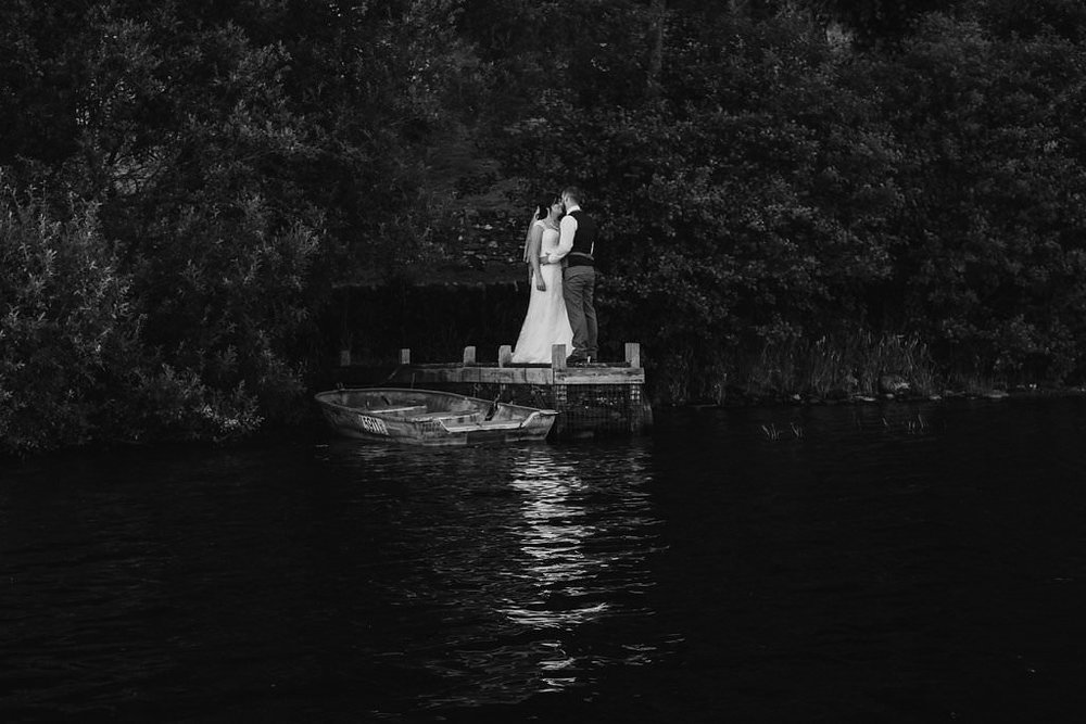 Kissing on Loch Ard, image by Doran Photography