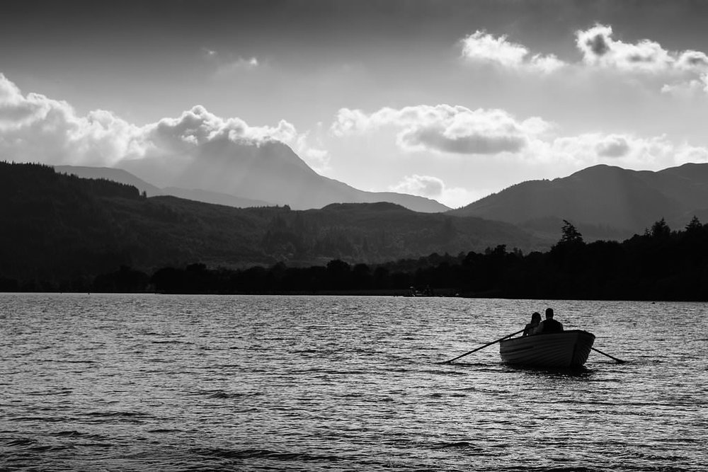 Romantic sail on Loch Ard, image by Doran Photography