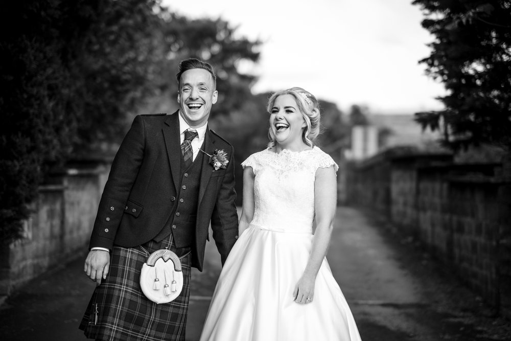 Candid Couple Shot, Lochside Hotel, image by Doran Photography