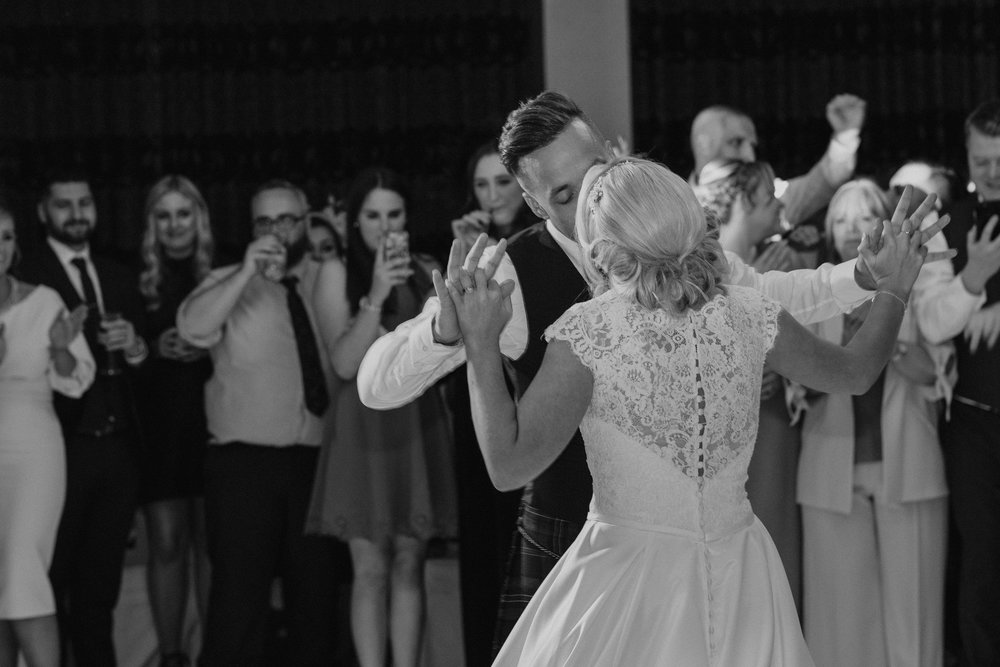 First Dance, Black & White, Image by Doran Photography