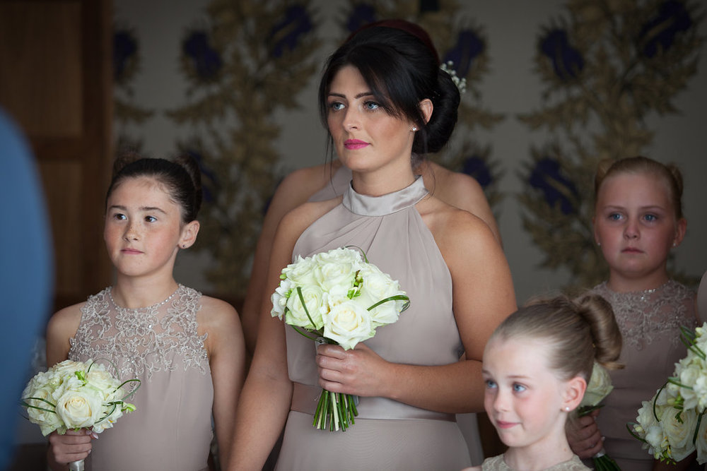 Bridesmaids at Lodge on the Loch, by Doran Photography