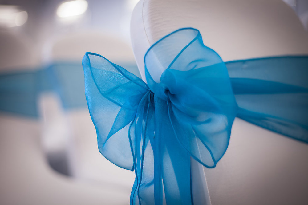 Wedding Chair Detail, by Doran Photography