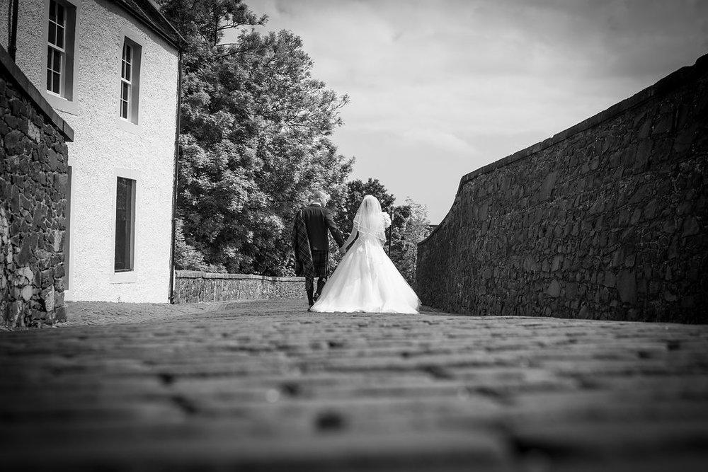 Bride & Groom Portrait, Stirling Castle, by Doran Doran Photography