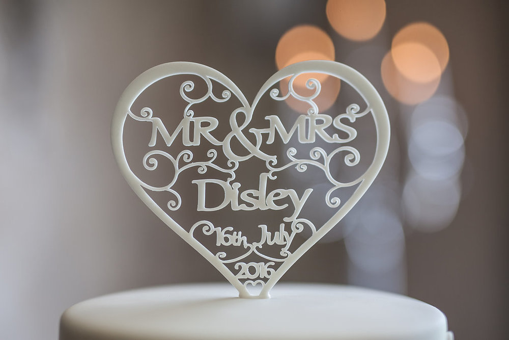 Cake topper, by Doran Photography