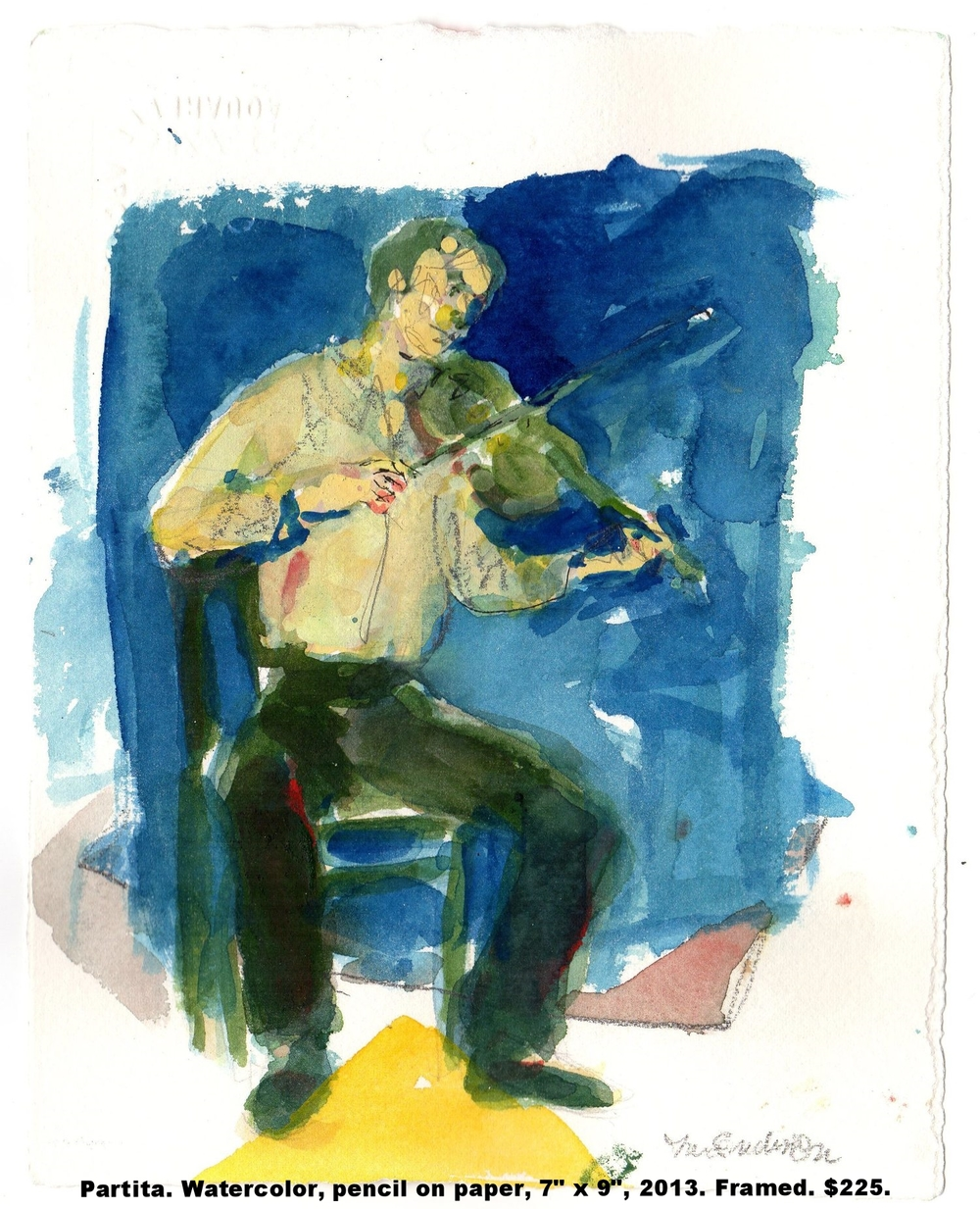 30 Fred Wise Partita Watercolor pen, and pencil on paper 7 in x 9 in 2003.jpg