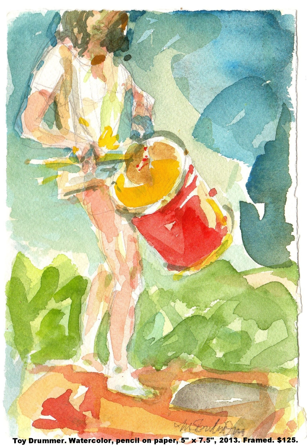 43 Fred Wise Toy Drummer Watercolor and pencil on paper 5 in x 7.5 in 2013.jpg