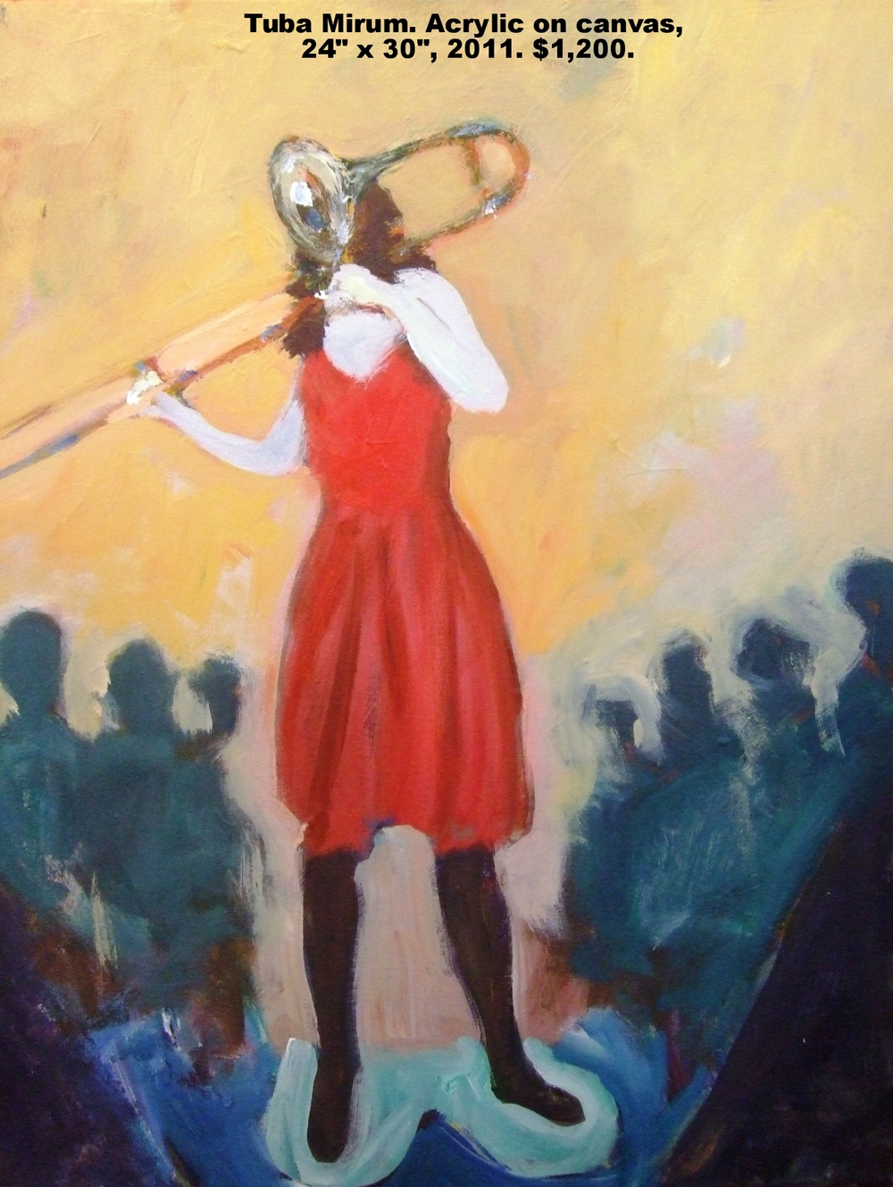 Fred Wise Tuba Mirum, acrylic on canvas, 24 x 30, 2011, $1,200.jpg