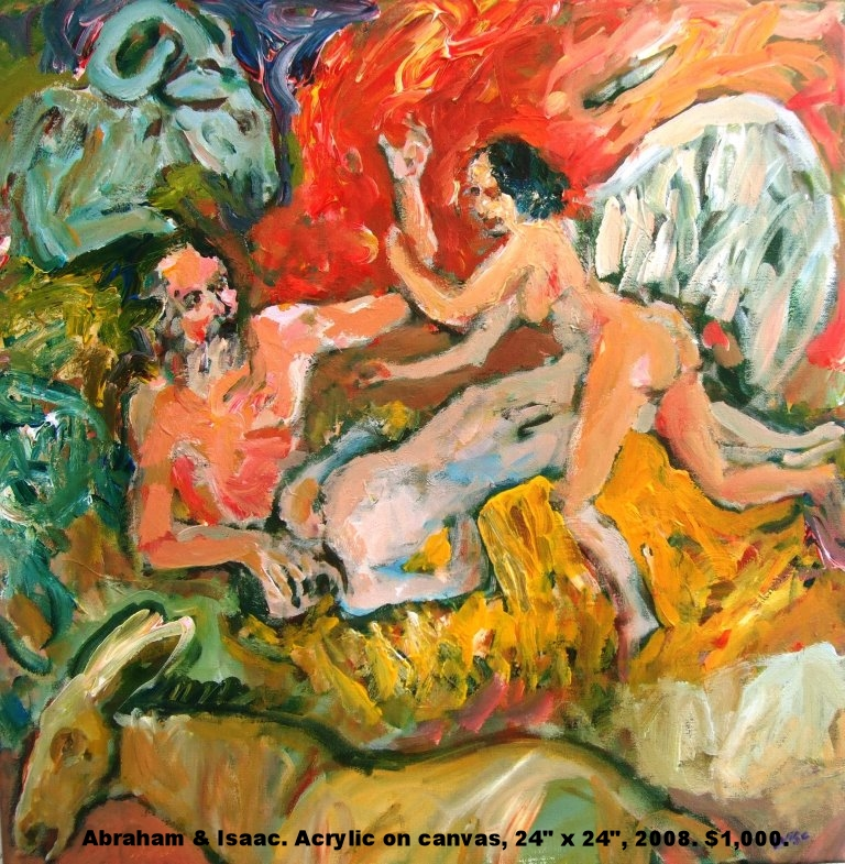 Fred Wise, Abraham and Isaac, acrylic on canvas, 24 x 24, 2008, $1,000.jpg