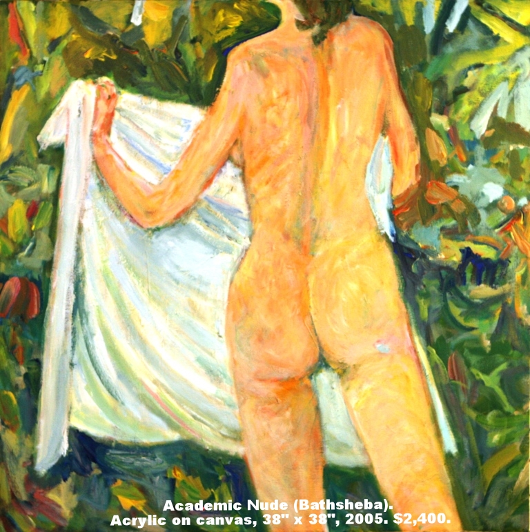 Fred Wise, Academic Nude, acrylic on canvas, 38 x 38, 2005, $2,400.jpg