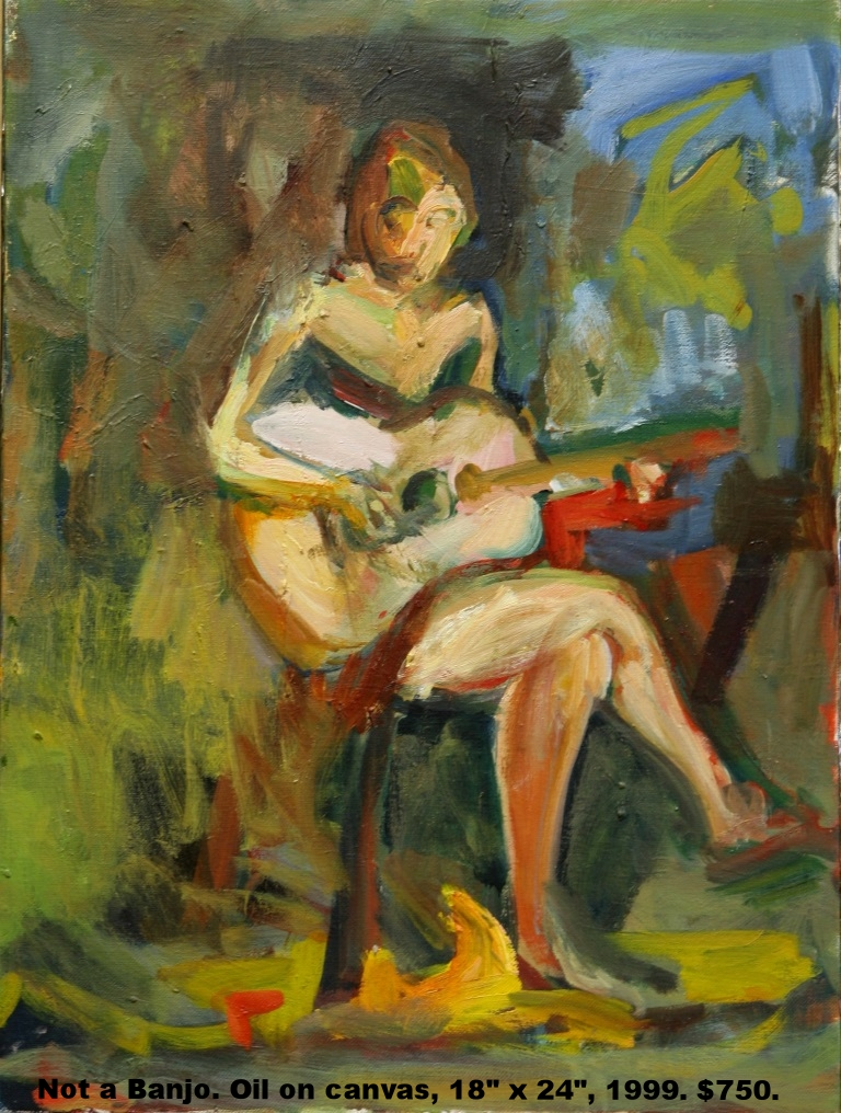 Fred Wise, Not a Banjo, oil on canvas, 18 x 24, 1999, $750.jpg