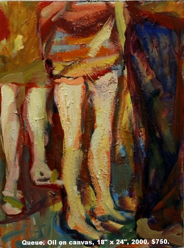 Fred Wise, Queue, oil on canvas, 18 x 24, 2000, $750.jpg