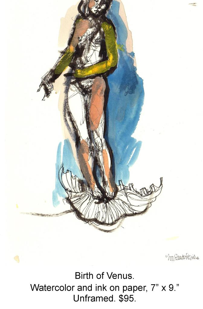 Fred Wise, Birth of Venus. Watercolor, ink on paper, 7 x 9, 2005.jpg