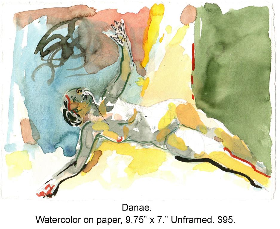 Fred Wise, Danae. Watercolor on paper, 9.75 x 7, 2009.jpg