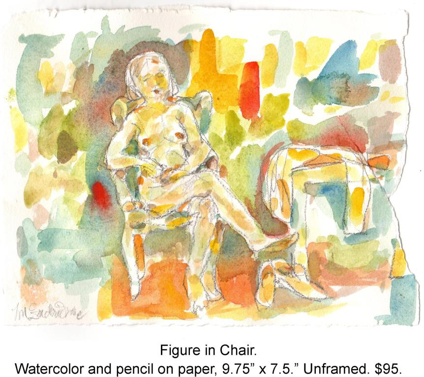 Fred Wise, Figure on Chair. Watercolor and pencil on paper, 9.75 x 7.5, 2015.jpg