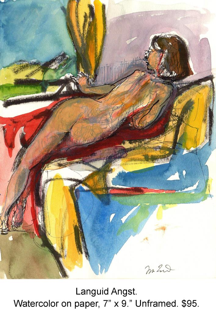 Fred Wise, Languid Angst. Watercolor, ink on paper, 7 x 9, 1998.jpg