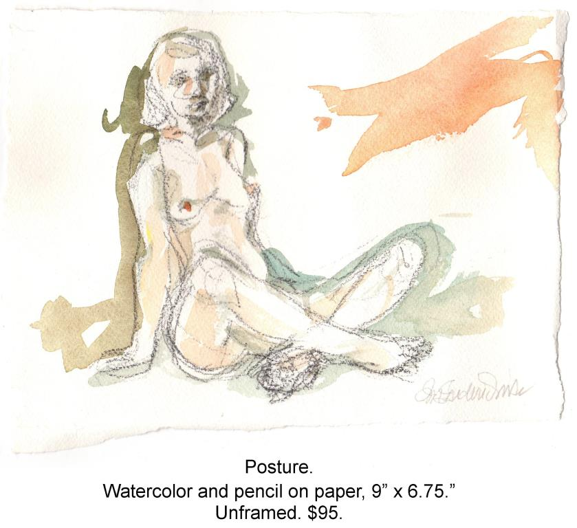 Fred Wise, Posture. Watercolor and pencil on paper, 9 x 6.75, 2015.jpg