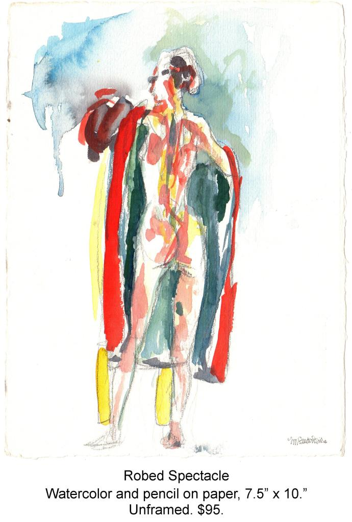 Fred Wise, Robed Spectacle. Watercolor and pencil on paper, 7.5 x 10, 2006.jpg