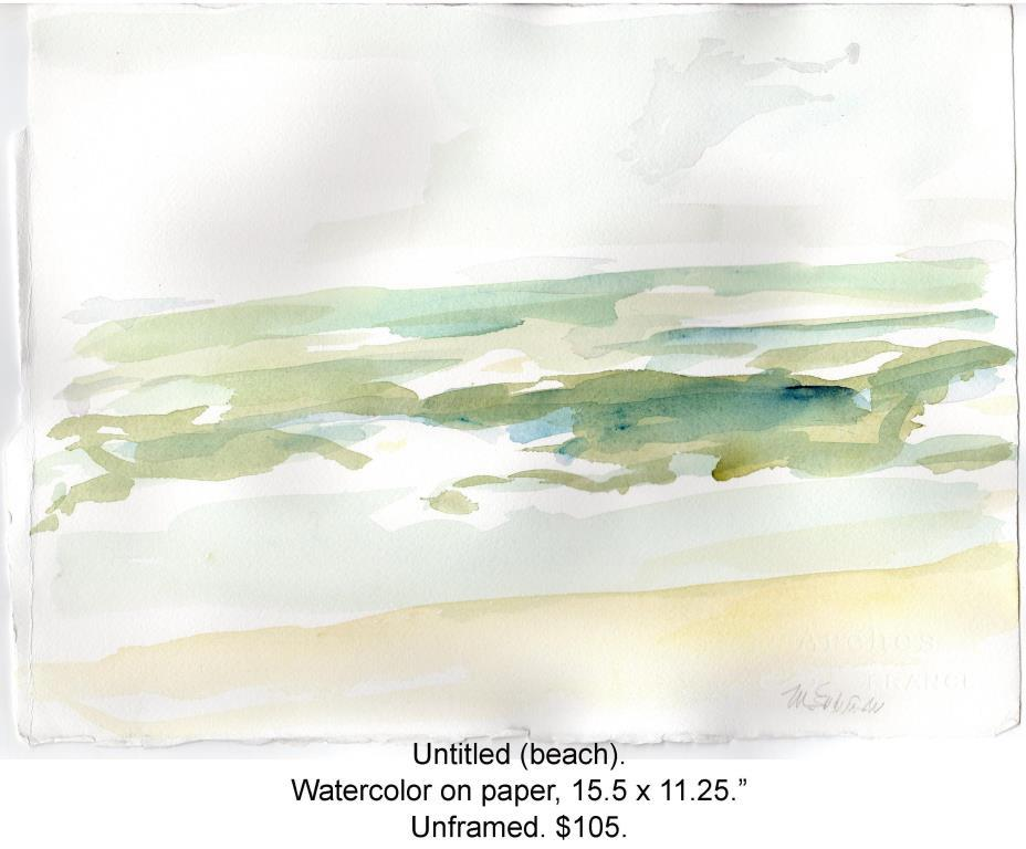 Fred Wise, untitled beach 2, water color on paper, 15.5 x 11.25, 2016, web.JPG