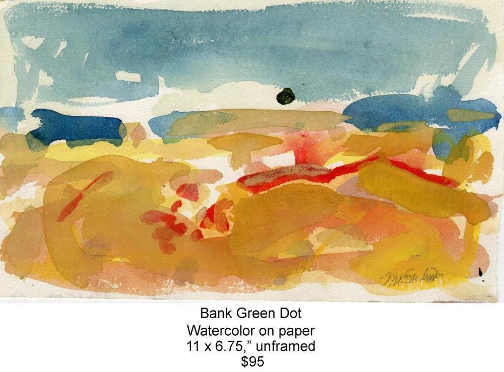 Fred Wise, Bank Green Dot. Watercolor, 11 x 6.75, 2008, web.jpg