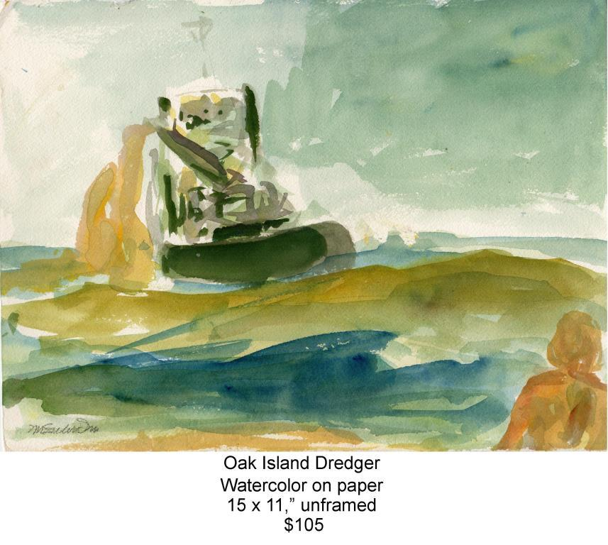 Fred Wise, Oak Island Dredger. Watercolor, 15 x 11, 2009, web.jpg