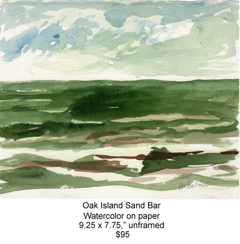 Fred Wise, Oak Island Sandbar. Watercolor, 9.25 x 7.75, 2009, web.jpg